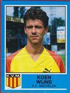 Panini Football Voetbal 87 1987 Belgie Belgique KV Mechelen Sticker Nr. 250 Koen Wijns (Ribbel) - Sports