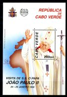Cape Verde, Cabo Verde, 1990, Pope John Paul, MNH, Michel Block 16 - Cape Verde