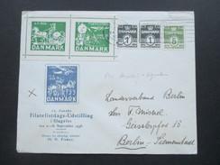 Dänemark 1938 10. Danske Filatelistdags-Udstilling. Vignetten 4.9.1938 Filatelistdag. Brief Nach Berlin Siemenstadt - 1913-47 (Christian X)