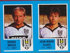 Panini Football Voetbal 87 1987 Belgie Belgique Sticker FC Diest Nr. 380 Bennie Meeus Jean-Marie Claes - Sports