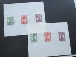 Österreich Feldpost Nr. 73 - 75 In Anderen Farben / Wertstufen!! Probedrucke?? Jeweils 3 Marken Auf Briefstück / Papier - 1850-1918 Imperium