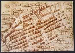 ABBAZIA DI FARFA - FARFA SABINA (RIETI) - Badia Di Farfa Da Una Stampa Del 1686 - Old Print - Map Nv - Rieti