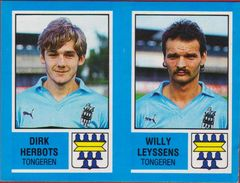 Panini Football Voetbal 87 1987 Belgie Belgique Sticker KSK Tongeren Nr. 433 Dirk Herbots Willy Leyssens - Sports