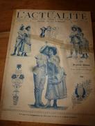 1903 L'ACTUALITE:Bergerade Watteau; Reconstitution De L'Assassinat Du Roi Et Reine De Serbie (en Film) ;Waterloo; Etc - 1900 - 1949