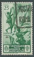 1934 REGNO USATO MEDAGLIE 25 CENT - S369-5 - 1900-44 Vittorio Emanuele III