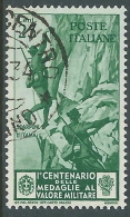 1934 REGNO USATO MEDAGLIE 25 CENT - S369-6 - Usati