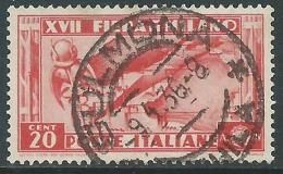 1936 REGNO USATO FIERA DI MILANO 20 CENT - S394 - Gebraucht