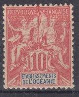 French Oceania Oceanie 1900 Yvert#15 Mint Hinged - Ozeanien (1892-1958)