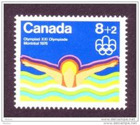 Canada, 1975, #B4, Natation, Jeux Olympiques De Montréal, Olympic Games, Swimming - Unused Stamps