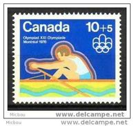 Canada, 1975, #B5, Aviron, Jeux Olympiques De Montréal, Olympic Games, - Unused Stamps