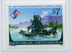 PIA - AUSTRIA - 1992 : Centenario Della Regolarizzazione Del Fiume Reno - (Yv 1892) - 1945-.... 2ª República