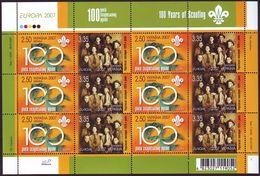 UKRAINE 2007. EUROPA. 100 YEARS OF SCOUTING. Mini-sheet Of 6 Sets Mi-Nr. 856-57. MNH (**) - 2007