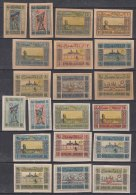 Azerbaijan 1920 Mi#1-10 X And Y, Complete Sets On Grey-yellow And White Paper, Mint Hinged - Azerbaïdjan
