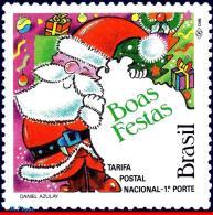 Ref. BR-2391 BRAZIL 1992 - MERRY CHRISTMAS, SANTA, CLAUS, RELIGION, MI# 2509, MNH, CHRISTMAS 1V Sc# 2391 - Christmas