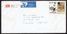 SWAZILAND  1986  Air Letter To Canada  Round Tables Club E2, Aloe 10c Over 4c. SG 515, 471 - Swaziland (1968-...)