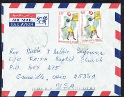 1993  Lettre Avion Pour Les USA   Journée Mondiale De La Poste 1989 120 Fr X2 - Chad (1960-...)
