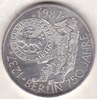 10 Mark 1987 J (HAMBOURG) 750 Ans De La Ville De Berlin , En Argent - [ 7] 1949-… : RFA - Rép. Féd. D'Allemagne