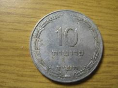 """TEMPLATE LISTING ISRAEL 10 PRUTA PRUTAH PRUTOT  1957 RARE  תשי""""ז ONLY 1 COIN. - Israele"""