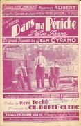 Partition: Dans Ma Péniche (Valse Java), Grand Succès De Jean Cyrano - Paroles De René Toche - Musique Ch. Borel-Clerc - Partitions Musicales Anciennes