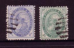 #166 - 187-8 Early Tonga 6d And 1/- FU - Tonga (1970-...)