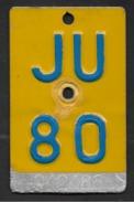 Velonummer Mofanummer Jura JU 80, Erste Mofanummer Jura ! - Plaques D'immatriculation