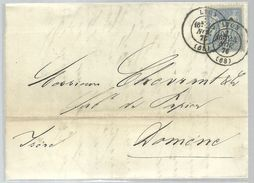 LETTER  1876 LYON - Marcofilia (sobres)