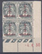 4175 ANDORRE Blanc 1/2 C / 1 C  Yv 1 Coin Daté 4 6 1930  Galvano A 3° Tirage  Avec Trace De Charnière - Neufs