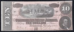 United States, 10 Dollars Type 1864 Civil War Confederate Richmond XF - Confederate Currency (1861-1864)