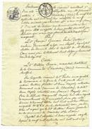 Bordereau De Créance Du 28 Septembre 1810 Acte Notarié Très Beaux Cachets état Parfait - Cachets Généralité