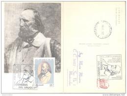 CENTENARIO DE LA MUERTE DE JOSE GIUSEPPE GARIBALDI 1882-1982 URUGUAY MAXIMUM CARD TRES BON ETAT RARE PLUS CIRCULEE - Uruguay