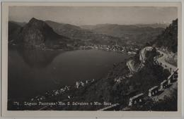 Lugano - Panorama Mte. San Salvatore E Mte. Rosa - TI Tessin