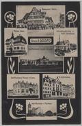 Gruss Aus Gossau - Marien Heim, Restaurant Säntis, Schutzengelkirche, Schulhaus, Schifflistickerei Roppolt & Comp. - SG St. Gall