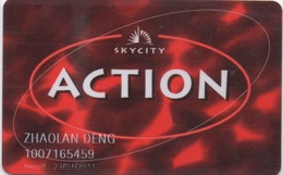 Carte De Membre : Casino Skycity ACTION NZ (Auckland Hamilton Queenstown) - Casino Cards