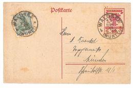 Deutsche Nationalversammlung - Postkarte / Ganzsache / Entier Postal - 1919 - Von Waldsee, Württemberg - Interi Postali