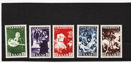 KAR339 DEUTSCHLAND SAARGEBIET 1951  MICHL  309/13 ** Postfrisch SIEHE ABBILDUNG - Ungebraucht