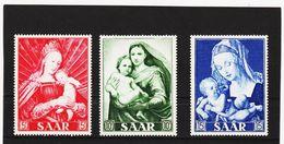 KAR345 DEUTSCHLAND SAARGEBIET 1954  MICHL  351/53 ** Postfrisch SIEHE ABBILDUNG - 1947-56 Allierte Besetzung