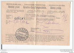 41 - 76 - Récépissé De Lausanne 1912 - Superbe Cachet à Date - Suisse