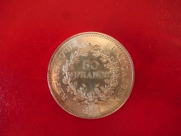 Argent - 50 Francs Hercule 1977 - SUP - M. 50 Francs