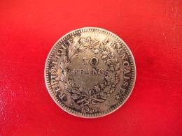 Argent - 50 Francs Hercule 1974 - TTB - M. 50 Francs
