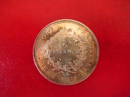 Argent - 50 Francs Hercule 1977 - TTB - M. 50 Francs