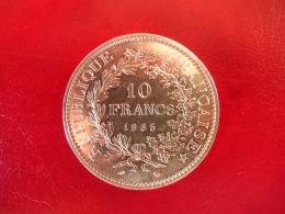 Argent - 10 Francs Hercule 1965 - SUP - K. 10 Francs