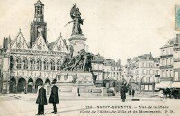 FRANCE - Saint-Quentin - Vue De La Place - VG Animation Etc 1905 - Saint Quentin