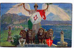 W FIUME ITALIANA - Illustratore PIROVANO - VIAGGIATA - Ohne Zuordnung