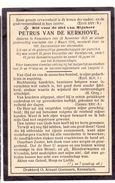 Devotie - Devotion - Petrus Van De Kerkhove - Knesselare 1825-1916 - Kerkfabriek-Gemeenteraadslid-Schepencollege - Décès