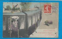 J'Arrive à SCEAUX    Train        Animées    écrite En 1910 - Sceaux