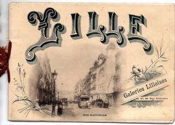 Petit Livret   Sur Ville De   LILLE Editee Par Galeries Lilloises   11 Photos  FORMAT 20 CM PAR 14 CM - Lille