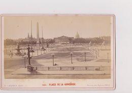 PARIS  --  PLACE DE LA CONCORDE   --   GRAND CDV - ( CAB )  --   16 Cm X 11 Cm  --  PHOTOGRAPH  E. LADREY  --  Cca  1875 - Places