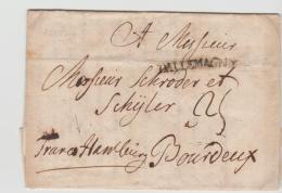 DK-V012 /  DÁNEMARK  - Ódense 1790, Franco Hamburg Nach Bordeaux Mit Vollem Textinhalt. - Danimarca