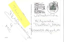 EMA-1992-Donaueschingen-Sonnen Terrasse-Südschwarz-Postcard-Museumsbahn Mutachtal-Bahn-Train-Viaduc - Marcophilie - EMA (Empreintes Machines)