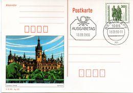 "DDR Amtl. GZS-Bildpostk. P109/03  30Pf. Oliv Mit Blindperforation ""Goethe-Schiller-Denkmal"", ESt 18.9.1990 BERLIN ZPF - Postcards - Used"